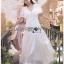 Lady Ashley Pure Royal Lace-Down White Lace Dress thumbnail 5