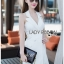 Suit Dress Lady Ribbon สูทเดรสสีขาว thumbnail 1
