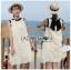 Dress เดรสแขนกุดผ้าลินินสีครีมปักพู่ thumbnail 2