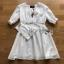 Holiday White Cotton Dress thumbnail 6