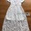 Lace Dress Lady Ribbon ขายเดรสยาว thumbnail 6