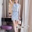 เซทลุคสาวเกาหลีสวยเก๋ดีเทลเสื้อเเขนกุดทรงครอป thumbnail 6