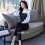 เสื้อกางเกงผ้าทอลายงานเกาหลี thumbnail 4