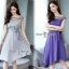 เดรสเกาหลีผ้าสีพื้นเนื้อดีนุ่ม thumbnail 1