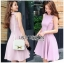 Lady Ribbon Pink Crepe Dress thumbnail 2