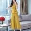 งานเกาหลีผ้าพื้นสีเหลืองทองเนื้อดีผ้านุ่ม thumbnail 3