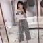 เซ็ทวอล์มเสื้อ+กางเกงเกาหลี thumbnail 3