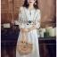 Bohemian Embroidered Lady Ribbon Cotton Dress thumbnail 1