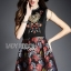 Lady Modern Hippie Floral Embroidered and Printed Dress thumbnail 3