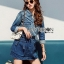 Lady Sarah Street Chic Denim Shirt Dress thumbnail 1