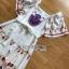 Dress เดรสผ้าเครปสีขาวพิมพ์ลายสีสดใส thumbnail 7