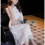 Lace Midi Dress เดรสแขนสามส่วน thumbnail 5