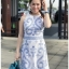 Lady Chloe Casual Printed Dress เดรสยาวแขนกุด thumbnail 1