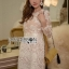 Lady Gabriella Elegant Chic Mixed Lace Dress thumbnail 2