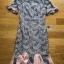 Lady Hudson Ruffle Grey & Pink Lace Dress thumbnail 8