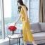งานเกาหลีผ้าพื้นสีเหลืองทองเนื้อดีผ้านุ่ม thumbnail 5