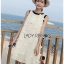 Dress เดรสแขนกุดผ้าลินินสีครีมปักพู่ thumbnail 5