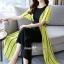 จั๊มสูทเกาหลีเสื้อคลุมนอกตัวยาว ผ้าสีเหลือง thumbnail 3