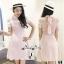 เดรสลุคสาวเกาหลีเดรสโทนสีชมพูหวานๆ thumbnail 2