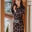 Lady Rachel Ribbon Twist Tartan Wool Shirt Dress thumbnail 2