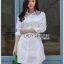 Chic Side-Lace Up Lady Ribbon Shirt Dress thumbnail 1