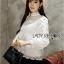 Yves Classic Sweet White Lace Blouse thumbnail 4