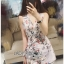 Lady Poppy Beautiful Flower Printed Side-Ribbon Playsuit thumbnail 3