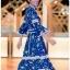 Chiffon Ruffle Maxi Dress เดรสยาว thumbnail 4