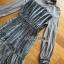 Star Printed Velvet Lady Ribbon Dress thumbnail 6