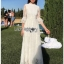 Princess White Lace Maxi Dress thumbnail 1