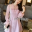 Pink Chiffon Dress มินิเดรสผ้าชีฟองสีขมพู thumbnail 1