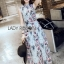Chiffon Sleeveless Lady Ribbon Maxi Dress thumbnail 2
