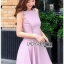 Lady Ribbon Pink Crepe Dress thumbnail 4
