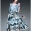 Lady Danielle Feminine Elegant Floral Printed Polyester Dress thumbnail 2