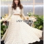 Lady Maryanne Cream Lace Cropped Top and Maxi Skirt thumbnail 1