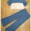 เสื้อพร้อมกางเกงสีขาวตัดฟ้า ทรงแขนกุด อกระบายติดกระดุมทอง thumbnail 8