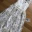 Lady Amanda Pure White and Gold Tulle Dress thumbnail 5