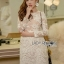 Lady Gabriella Elegant Chic Mixed Lace Dress thumbnail 1