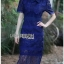 Lady Linda Preppy Chic Collared Lace Dress thumbnail 1