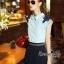 Lady Ribbon Online เสื้อผ้าออนไลน์ขายส่ง Normal Ally เสื้อผ้า NA04150816 &#x1F389Normal Ally Present flower lace decorate shirt and pant set&#x1F389 (เสื้อแต่งลูกไม้บ่า+กางเกงกระโปรงแต่งเชือกเปียเอว) thumbnail 3