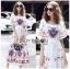 Dress เดรสผ้าเครปสีขาวพิมพ์ลายสีสดใส thumbnail 1