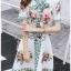 Blossom Lady Ribbon Printed Mini Dres thumbnail 3
