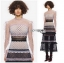 Lady Luna Ruffle Mixed Lace Long Dress thumbnail 4