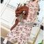 Lady Anne Autumn Flower Printed Chiffon Dress thumbnail 2
