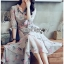 Blossom Layered Chiffon Lady Shirt Dress thumbnail 4