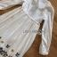Lady Ribbon White Cotton Maxi Dress thumbnail 6