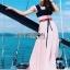 Lady Maddie Striped Ribbon Pleated Dress thumbnail 4