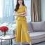 งานเกาหลีผ้าพื้นสีเหลืองทองเนื้อดีผ้านุ่ม thumbnail 2