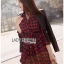 Red Tartan Ruffle Lady Ribbon Shirt Dress thumbnail 3