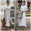 Lady Clemence Ruffle Embroidered White Cotton Dress thumbnail 1